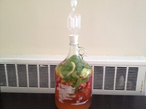 apple strawberry mint kvass