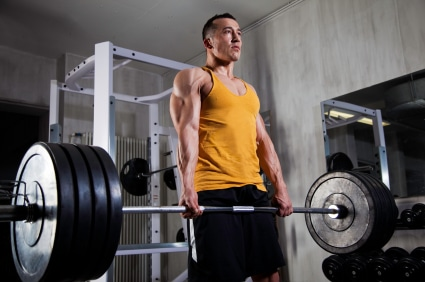 deadlift stock photo