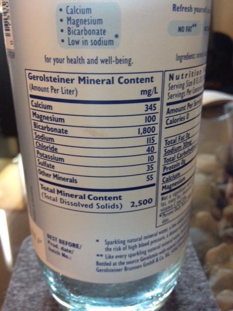 Gerolsteiner label