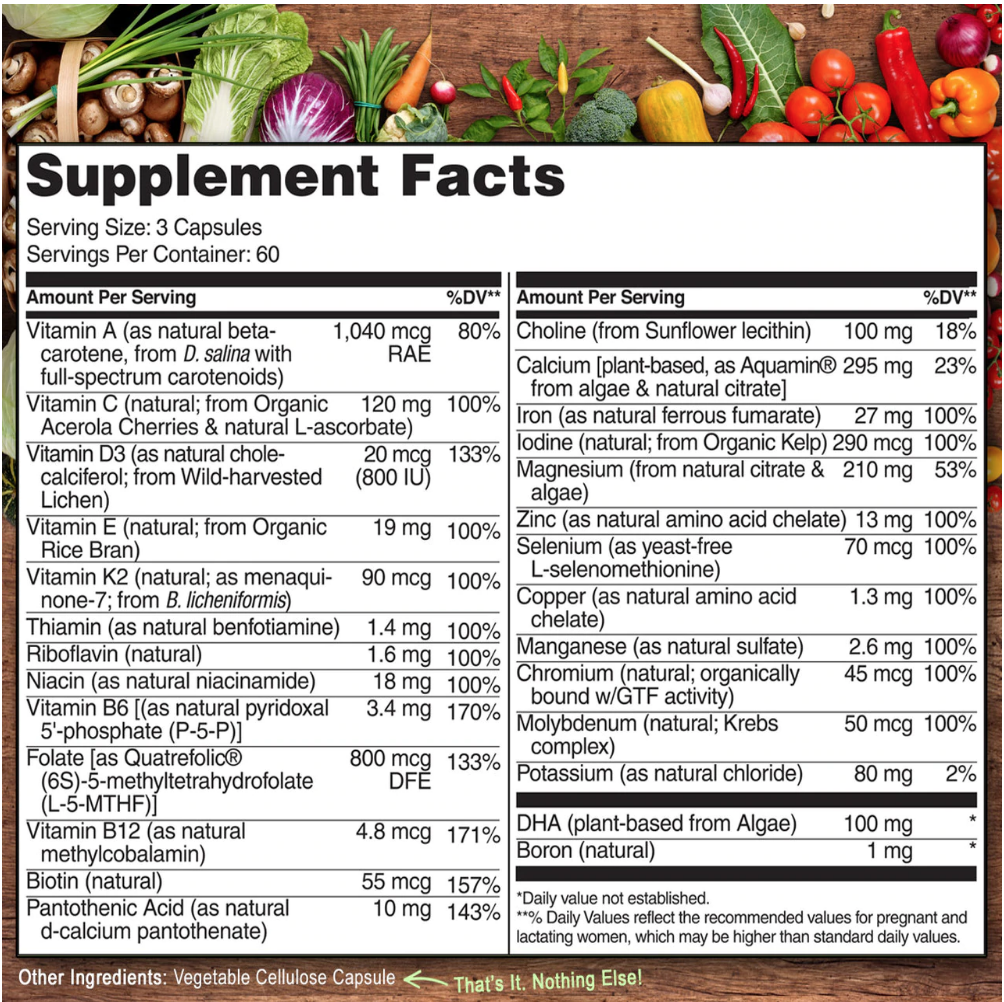 Naturelo prenatal vitamin
